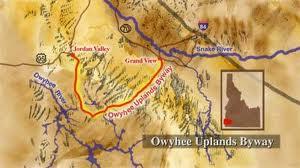 Owyhee Backcountry Byway Map
