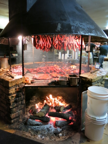 The Salt Lick allows customers to bring in their own beer and wine. Why? Who knows. Texas liquor laws differ by county, and even place within a county. Some are dry, some wet, and some fall in between. Dripping Springs, in Hays county (location of the Salt Lick) allows selling/drinking alcohol (according to the Texas liquor commission's list from Nov. 2013), but who knows. This is so confusing that you should give yourself a point for any damn answer.