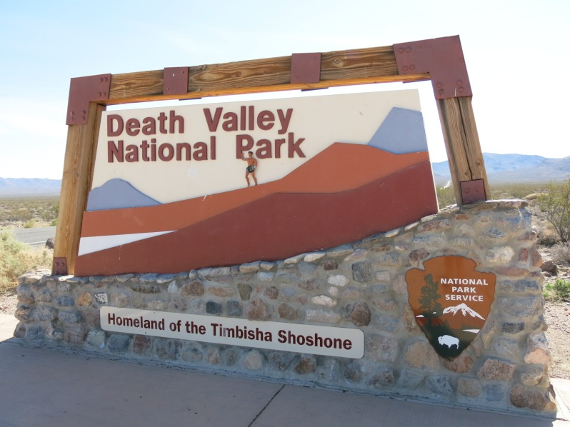 Doug enters Death Valley National Park.