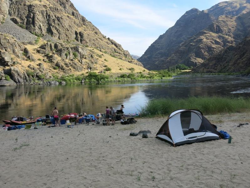 A beautiful sandy beach camp.
