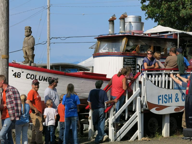 The Bowpicker, best fish and chips ever (made with tuna). Astoria, Oregon.