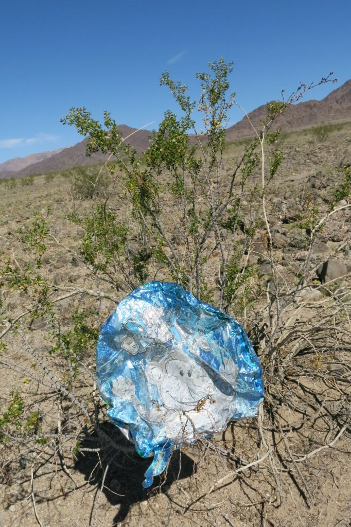 It's not uncommon to find old mylar balloons in Death Valley. They must float in from afar.