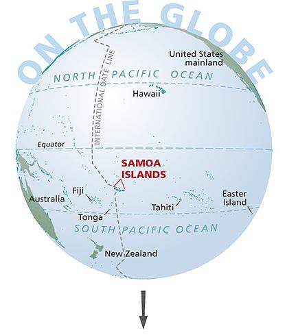 samoa-globe