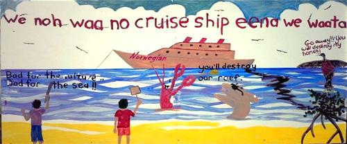 cruise-ship-belize-painting
