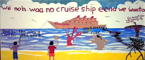 cruise-ship-belize-painting