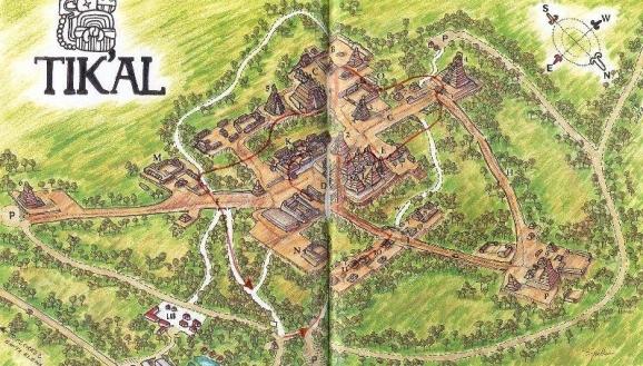 Tikal map